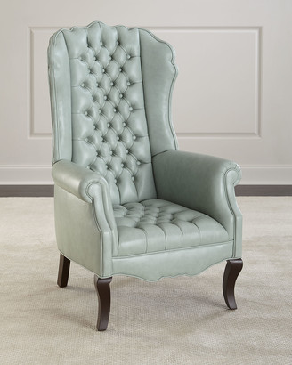 Haute House Ariel Leather Tufted Accent Chair