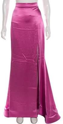 Christian Siriano Silk Maxi Skirt