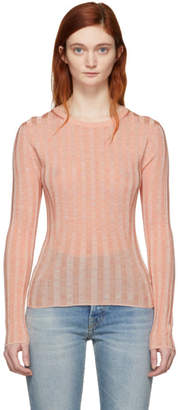 Acne Studios Pink Sitha Crewneck Sweater