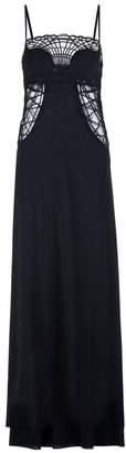 La Perla Soutache Silk Georgette Long Cut-Out Dress