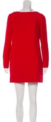 Valentino Wool-Blend Long Sleeve Dress