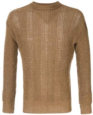 Issey Miyake Pre-Owned open weave jumper