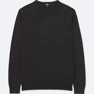 Uniqlo Men's Extra Fine Merino Crewneck Long-sleeve Sweater