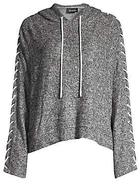 The Kooples Women's Sweet Fleece Lace-Up Hoodie