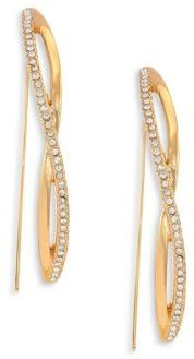 Jules Smith Pave Crystal Threader Twist Drop Earrings $100 thestylecure.com
