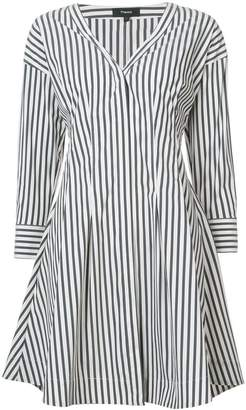 Theory striped shirt dress