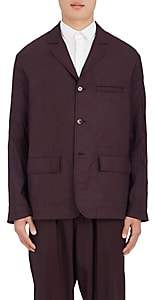 Marni MEN'S WOOL THREE-BUTTON UNSTRUCTURED SPORTCOAT-MD. RED SIZE 48 EU