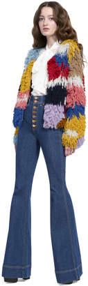 Alice + Olivia Fawn Multi-Color Fringe Jacket