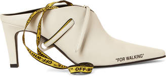 Off-White Off White For Walking Ankle-Wrap Mule Pumps