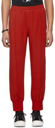 Alexander McQueen Red Crepe Sport Lounge Pants