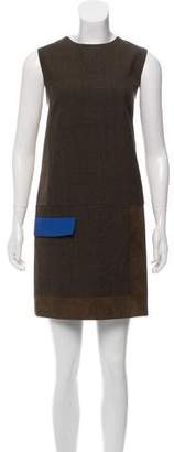 Rag & Bone Leather-Trimmed Shift Dress