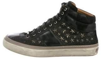 Jimmy Choo Star Leather Sneakers
