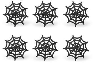 Design Imports Black Spider Web Napkin Ring set of 6
