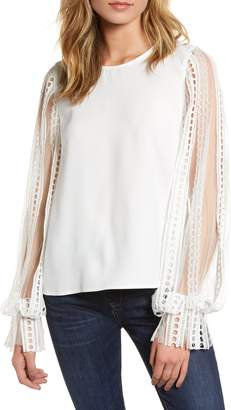 Endless Rose Lace Sleeve Blouse
