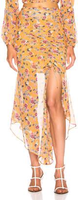 Nicholas Drawstring Skirt in Honey Multi   FWRD