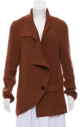 Zero Maria Cornejo Shawl Collar Rib Knit Cardigan