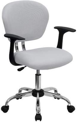 Zipcode Design Baxley Ergonomic Mesh Office Chair Color : Burgundy Mesh, Arms: Not Included