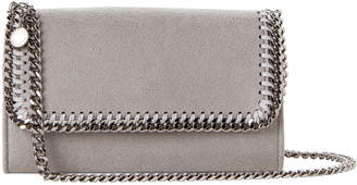 Stella McCartney Grey Falabella Shaggy Deer Chain Wallet