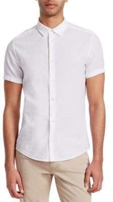Emporio Armani Short-Sleeve Cotton Button-Down Shirt