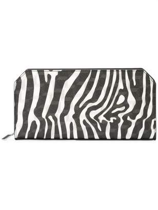 Pierre Hardy zebra printed top zip wallet