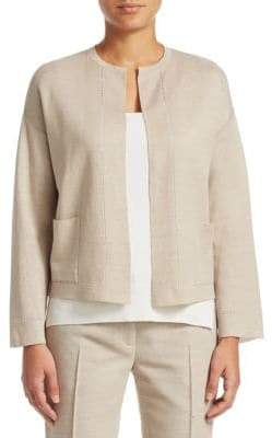 Akris Cutout Trim Cardigan