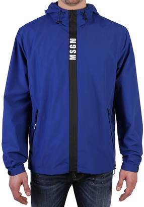 MSGM Blue Zipped Jacket