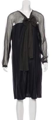 Dries Van Noten Silk & Wool Midi Dress