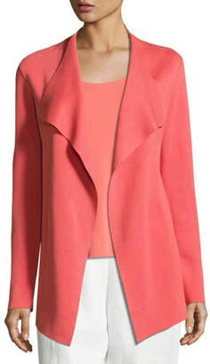 Eileen Fisher Open Interlock Jacket, Flora, Plus Size