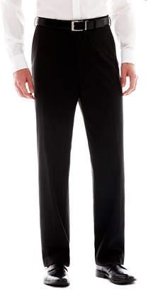 Izod Black Striped Flat-Front Suit Pants