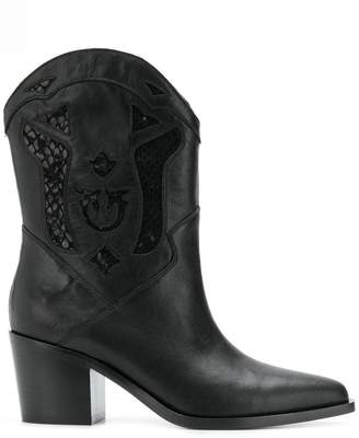 Pinko cowgirl ankle boots