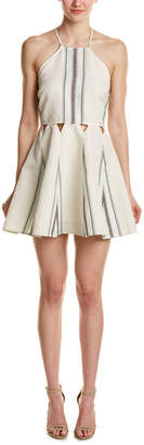 Dolce Vita Blanche Linen-Blend A-Line Dress