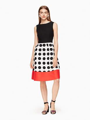 Kate Spade Grid dot colorblock dress
