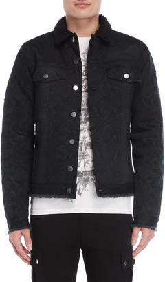 Balmain Sherpa-Lined Trucker Jacket