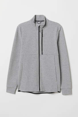 H&M Sports Jacket with Collar - Gray