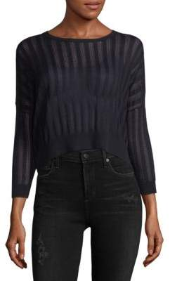 Autumn Cashmere Cropped Cotton Sweater