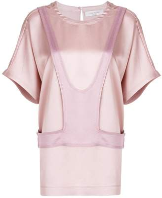 Valentino layered panel detail top