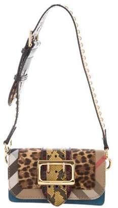 63e785132dc6 Burberry House Check Snakeskin Patchwork Bag