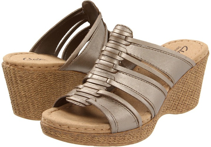 Clarks Lilly Jazz (Pewter Leather) - Footwear