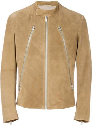 Maison Margiela zip detail leather jacket