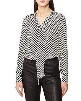 Reiss Caylee-Check Print Shirt