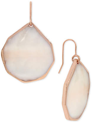 Kenneth Cole New York Rose Gold-Tone Mother-of-Pearl Shell Drop Earrings $25 thestylecure.com