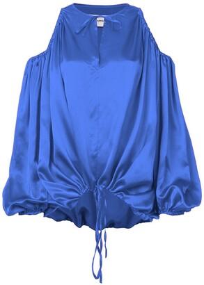 Marques Almeida Marques'almeida Marques'Almeida cut-out shoulder blouse blue