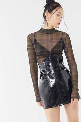 3d7dbc996c0 Grayscale PVC Corset Mini Skirt