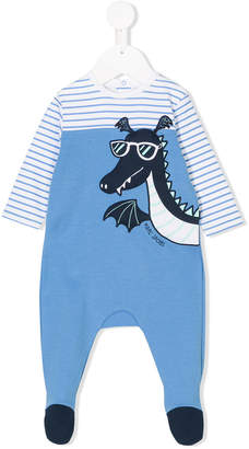 Little Marc Jacobs dragon patch striped pyjamas