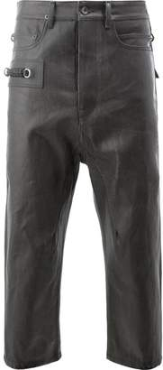 Rick Owens leather look cropped trousers