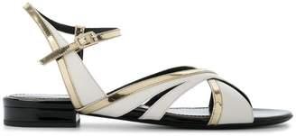 Lanvin asymmetric strappy sandals