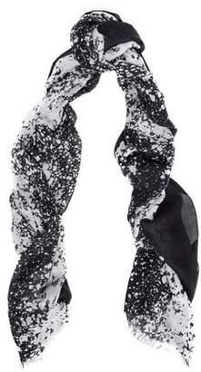 Diane von Furstenberg Frayed Printed Modal And Cashmere-blend Gauze Scarf