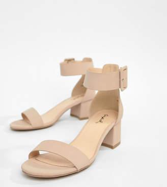 Qupid Mid Block Heel Sandals