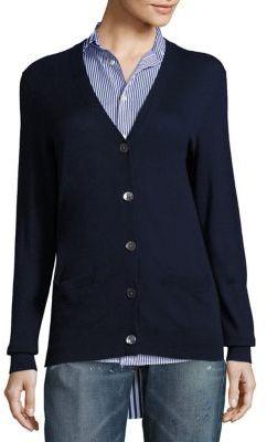 Polo Ralph Lauren Cashmere V-Neck Cardigan $345 thestylecure.com