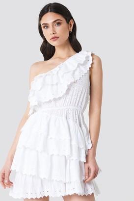Linn Ahlborg X Na Kd All Over Flounce Dress